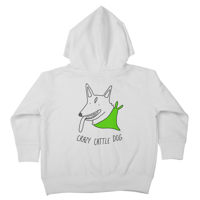 Crazy Cattle Dog Kids Toddler Zip-Up Hoody by Stick Figure Girl Stuff