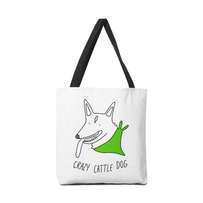 Crazy Cattle Dog Accessories Bag by Stick Figure Girl Stuff