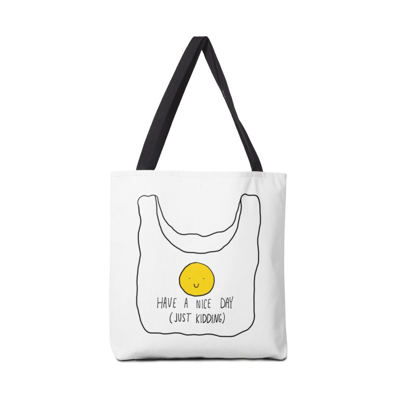 Have a nice day (just kidding) Accessories Bag by Stick Figure Girl Stuff