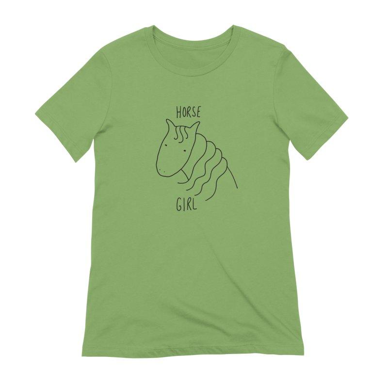 Horse Girl Women's T-Shirt by Stick Figure Girl Stuff