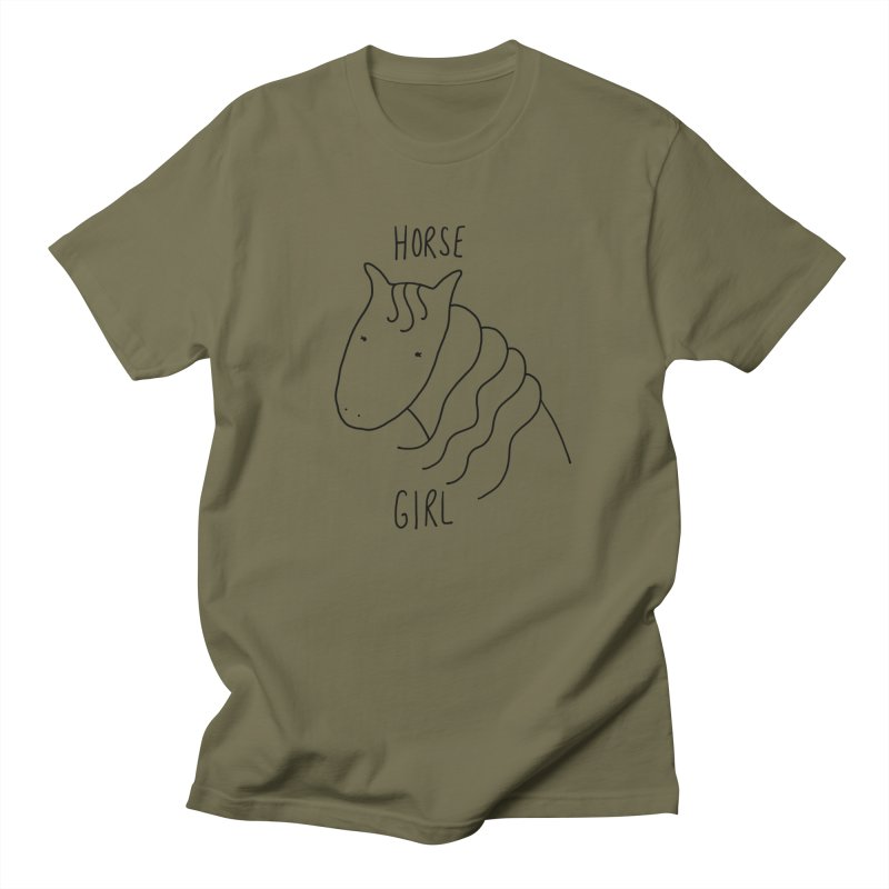 Horse Girl Men's T-Shirt by Stick Figure Girl Stuff