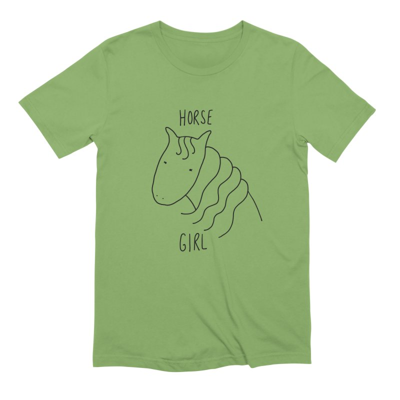 Horse Girl Men's Extra Soft T-Shirt by Stick Figure Girl Stuff