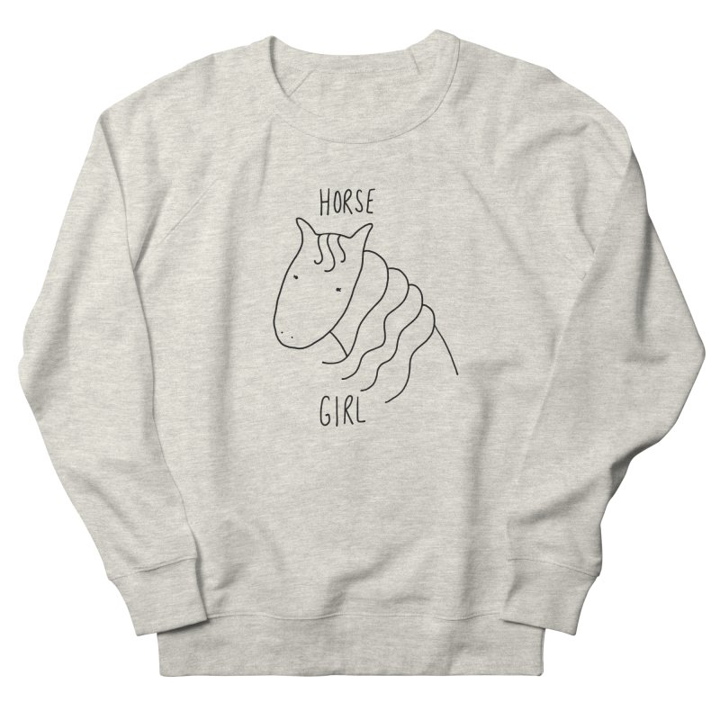 Horse Girl Men's Sweatshirt by Stick Figure Girl Stuff
