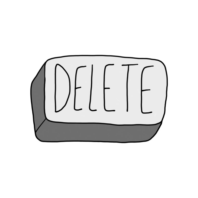 Delete Key Women's V-Neck by Stick Figure Girl Stuff