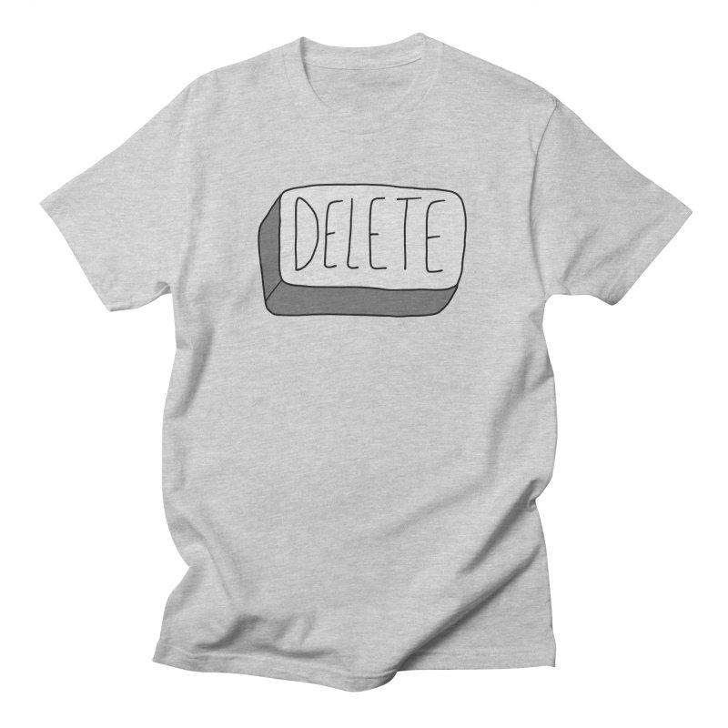 Delete Key Men's T-Shirt by Stick Figure Girl Stuff