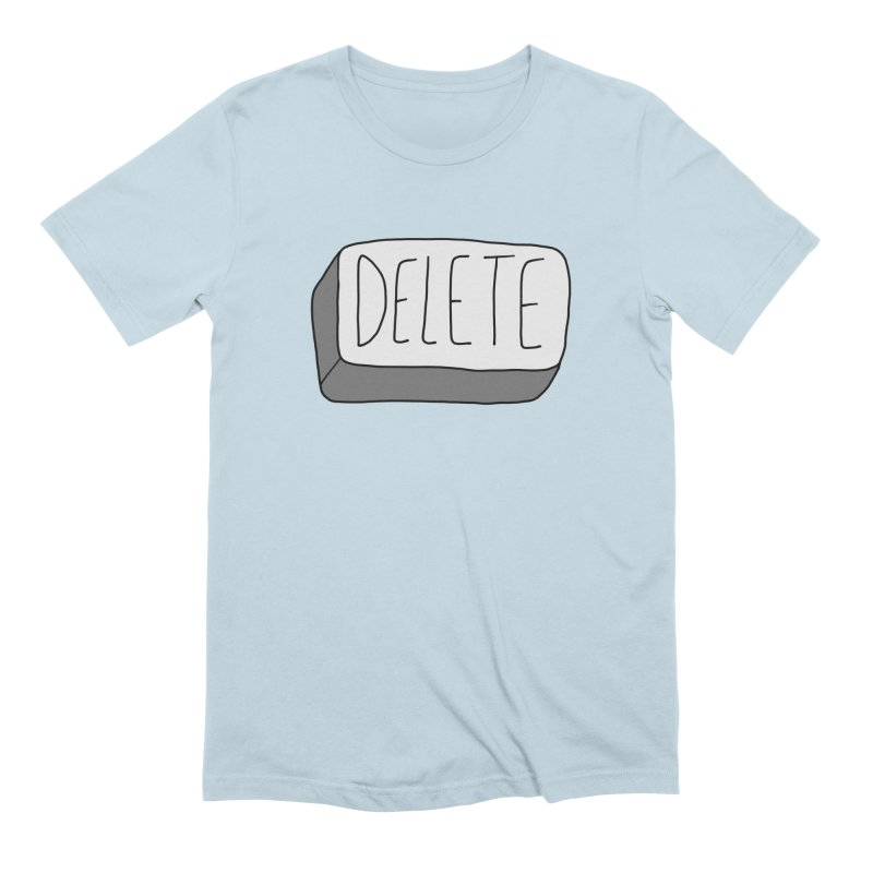 Delete Key Men's Extra Soft T-Shirt by Stick Figure Girl Stuff