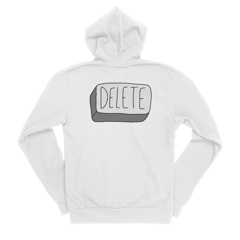 Delete Key Women's Zip-Up Hoody by Stick Figure Girl Stuff