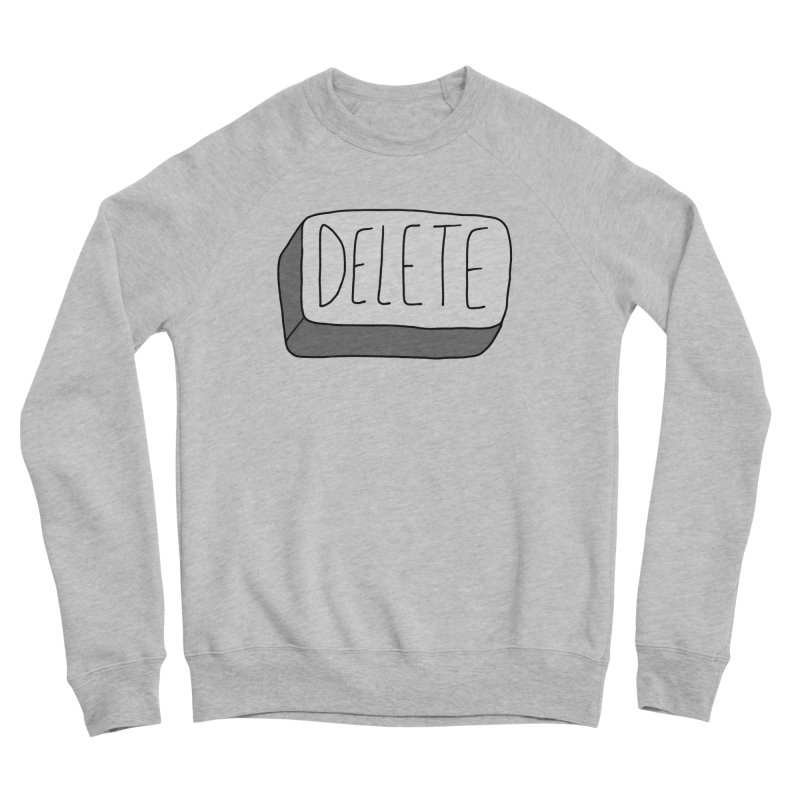 Delete Key Women's Sponge Fleece Sweatshirt by Stick Figure Girl Stuff