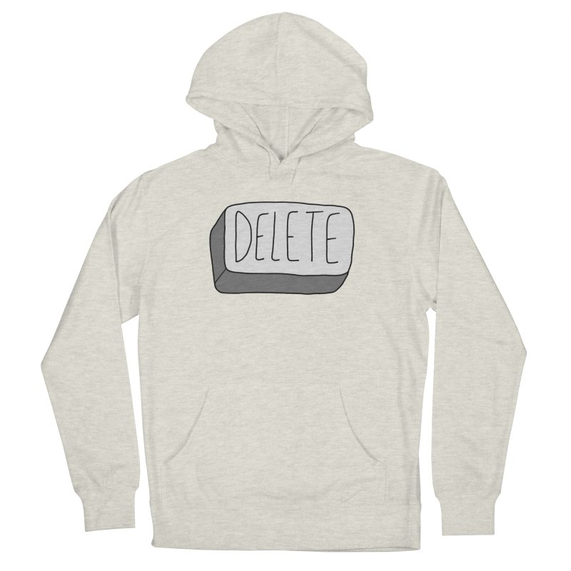 Delete Key Men's French Terry Pullover Hoody by Stick Figure Girl Stuff