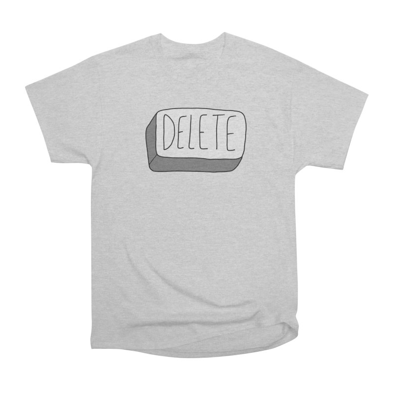 Delete Key Women's Heavyweight Unisex T-Shirt by Stick Figure Girl Stuff