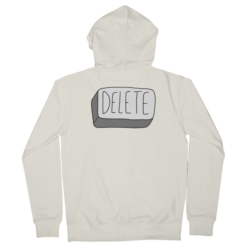 Delete Key Women's French Terry Zip-Up Hoody by Stick Figure Girl Stuff