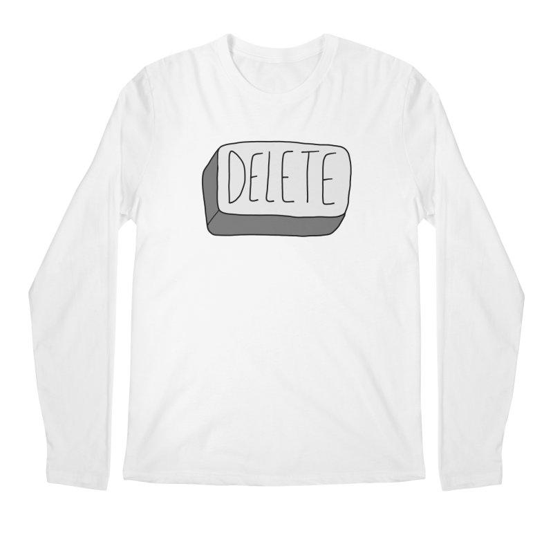 Delete Key Men's Regular Longsleeve T-Shirt by Stick Figure Girl Stuff
