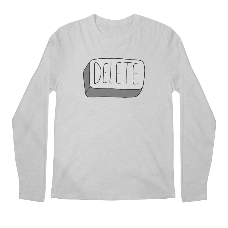 Delete Key Men's Regular Longsleeve T-Shirt by Stick Figure Girl Stuff