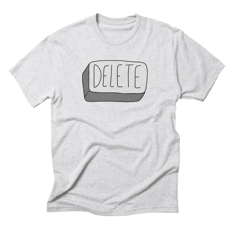 Delete Key Men's T-Shirt by Stick Figure Girl Stuff