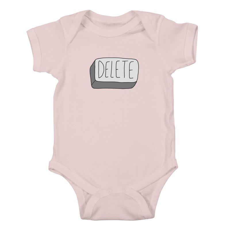 Delete Key Kids Baby Bodysuit by Stick Figure Girl Stuff