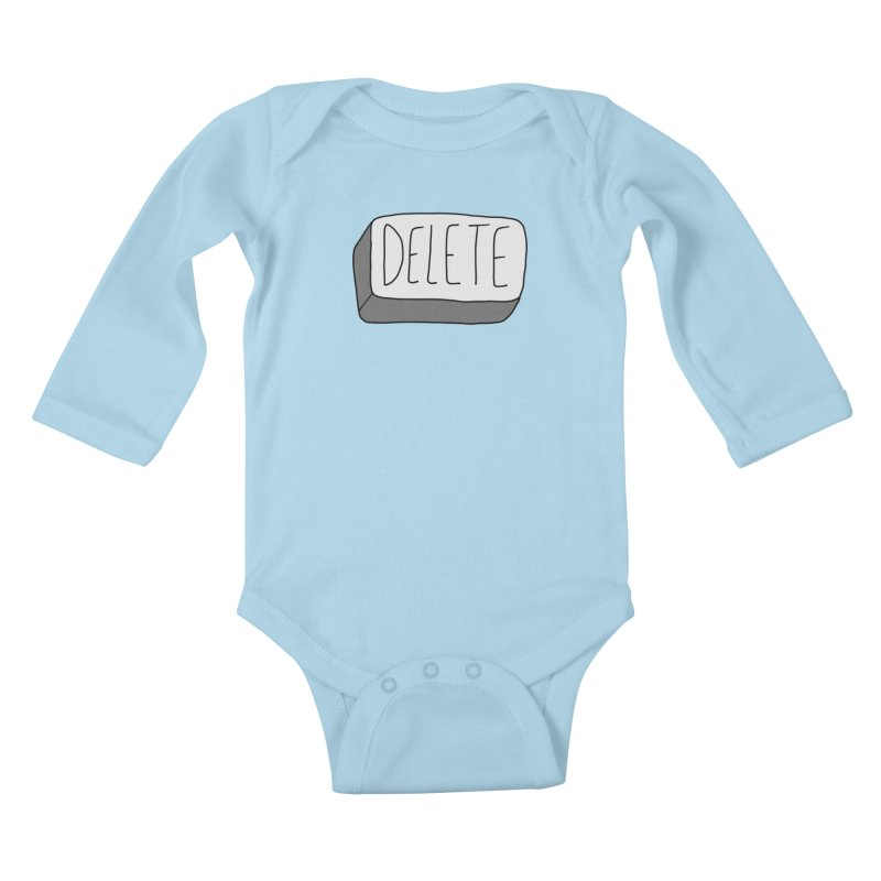 Delete Key Kids Baby Longsleeve Bodysuit by Stick Figure Girl Stuff