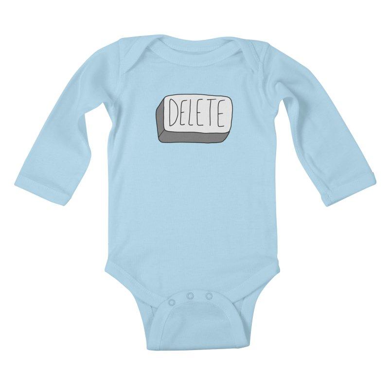 Delete Key Kids Baby Longsleeve Bodysuit by Stick Figure Girl Stuff