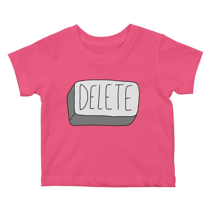 Delete Key Kids Baby T-Shirt by Stick Figure Girl Stuff