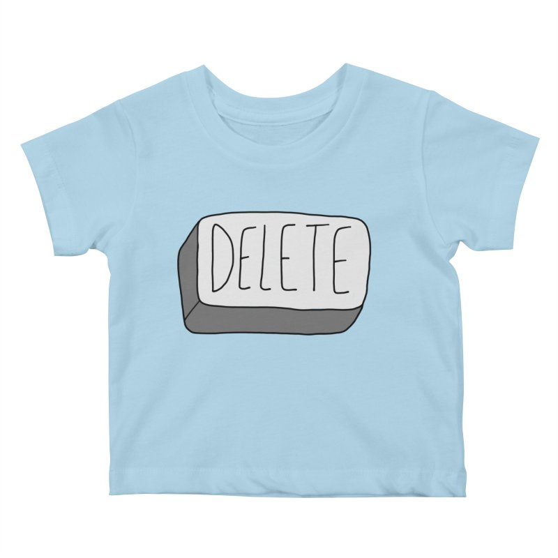 Delete Key Kids Baby T-Shirt by Stick Figure Girl Stuff