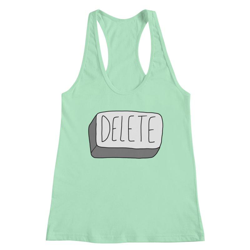 Delete Key Women's Tank by Stick Figure Girl Stuff