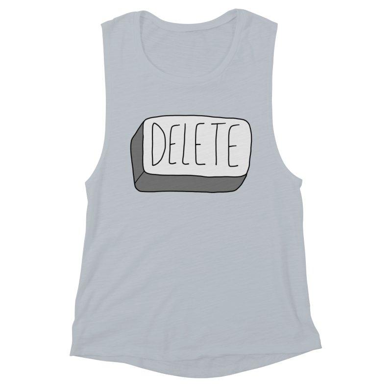 Delete Key Women's Muscle Tank by Stick Figure Girl Stuff