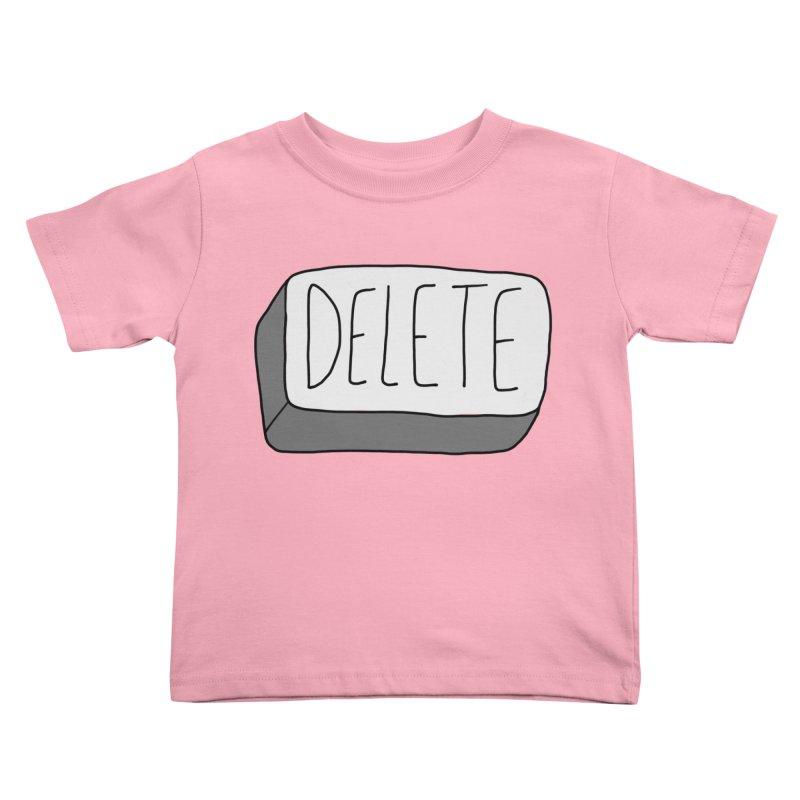 Delete Key Kids Toddler T-Shirt by Stick Figure Girl Stuff