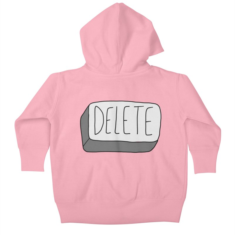 Delete Key Kids Baby Zip-Up Hoody by Stick Figure Girl Stuff