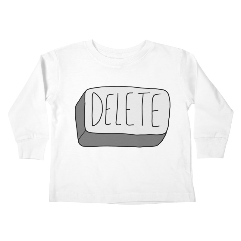 Delete Key Kids Toddler Longsleeve T-Shirt by Stick Figure Girl Stuff