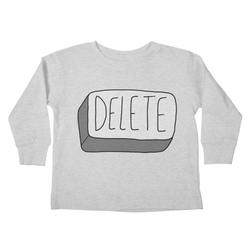 Delete Key Kids Toddler Longsleeve T-Shirt by Stick Figure Girl Stuff