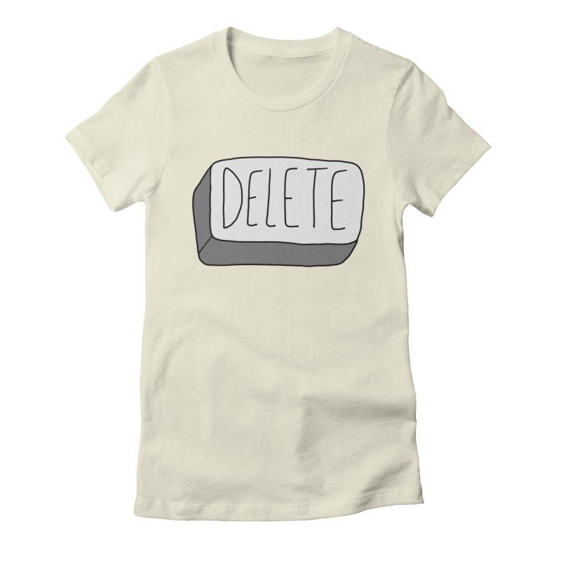 Delete Key Women's Fitted T-Shirt by Stick Figure Girl Stuff