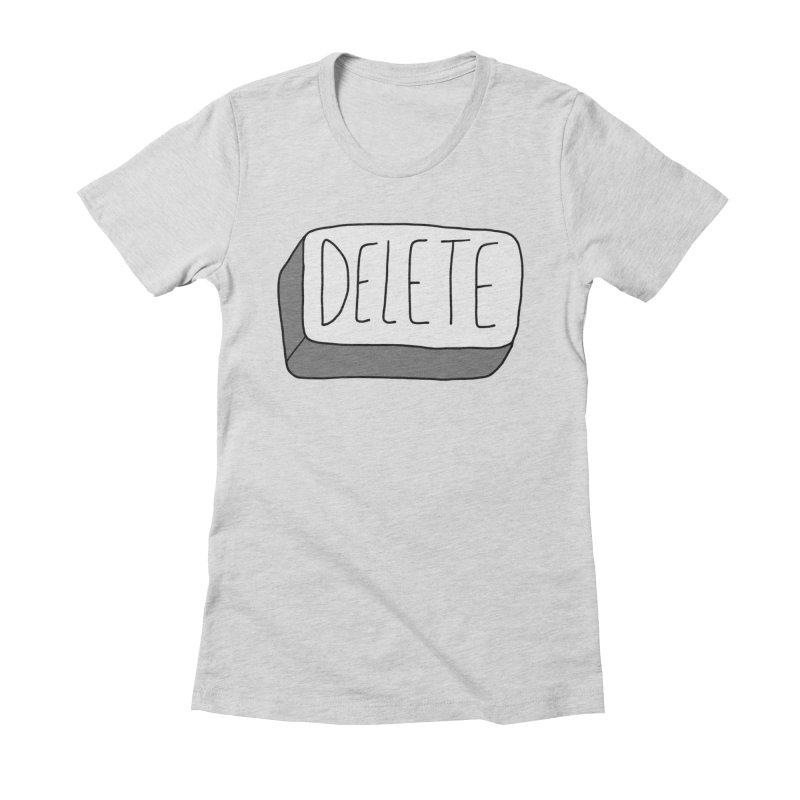 Delete Key Women's T-Shirt by Stick Figure Girl Stuff