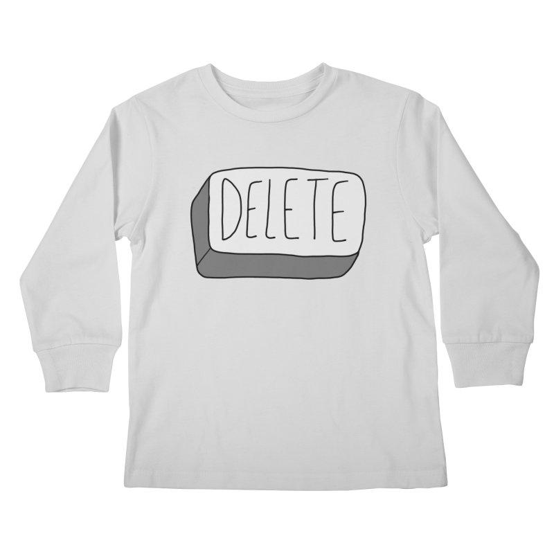 Delete Key Kids Longsleeve T-Shirt by Stick Figure Girl Stuff