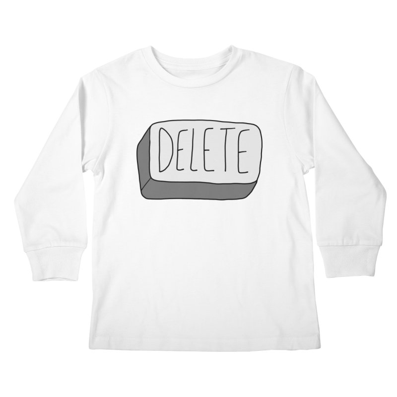 Delete Key Kids Longsleeve T-Shirt by Stick Figure Girl Stuff