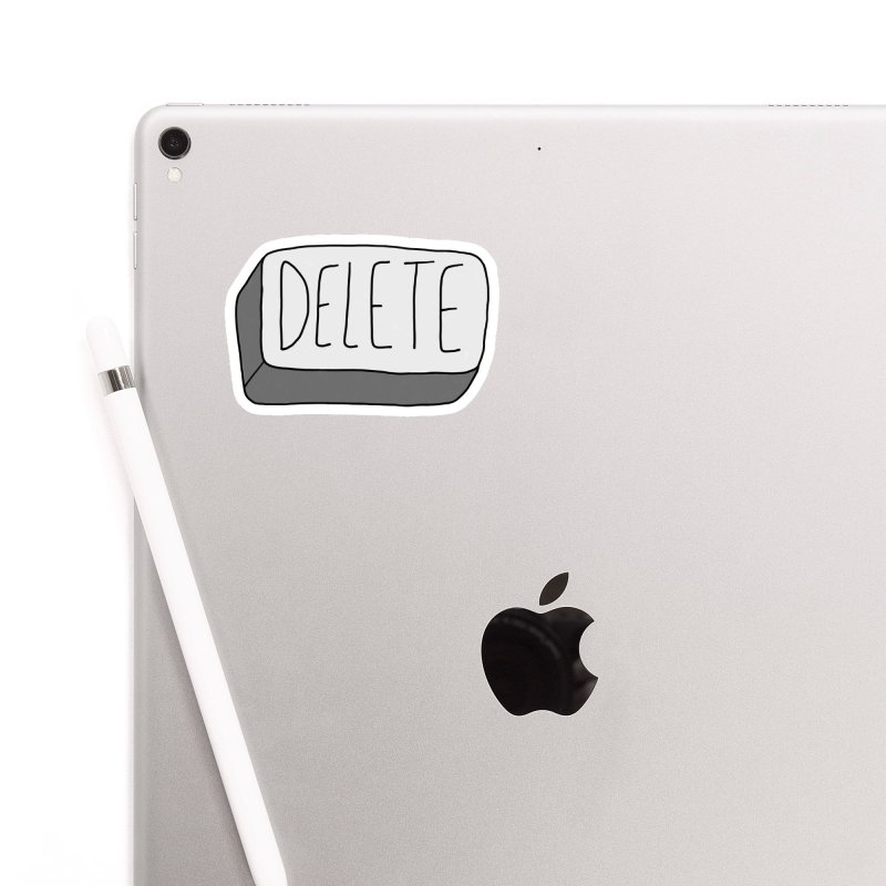 Delete Key Accessories Sticker by Stick Figure Girl Stuff