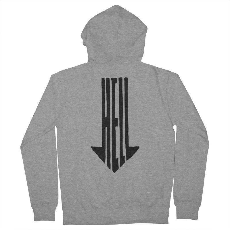 STRAIGHT TO HELL Men's French Terry Zip-Up Hoody by stickysyrups's Artist Shop
