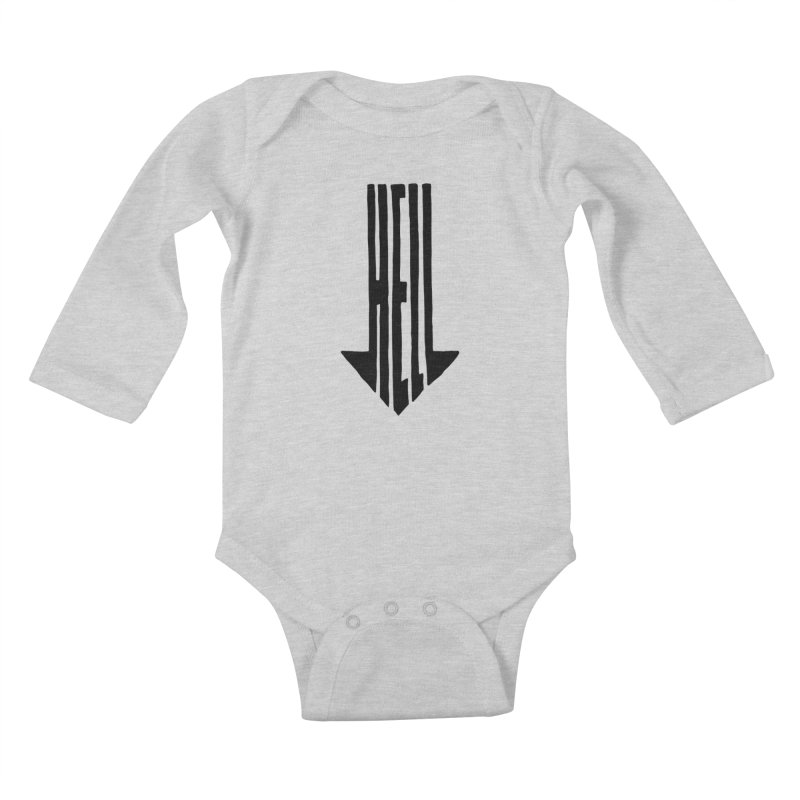 STRAIGHT TO HELL Kids Baby Longsleeve Bodysuit by stickysyrups's Artist Shop