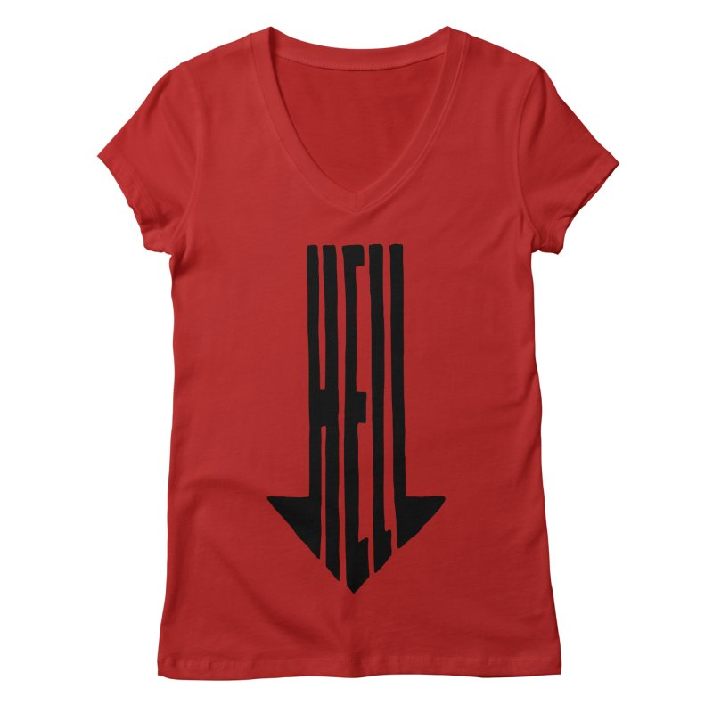 STRAIGHT TO HELL Women's V-Neck by stickysyrups's Artist Shop