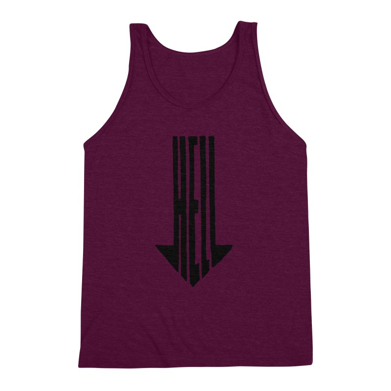 STRAIGHT TO HELL Men's Triblend Tank by stickysyrups's Artist Shop
