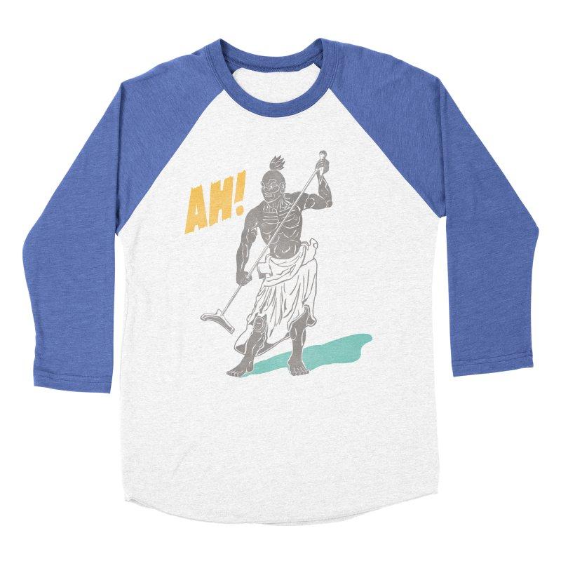 AH! Men's Baseball Triblend T-Shirt by stickysyrups's Artist Shop