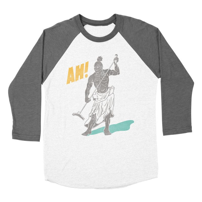 AH! Men's Baseball Triblend Longsleeve T-Shirt by stickysyrups's Artist Shop