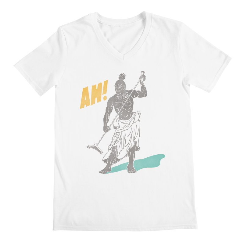 AH! Men's V-Neck by stickysyrups's Artist Shop