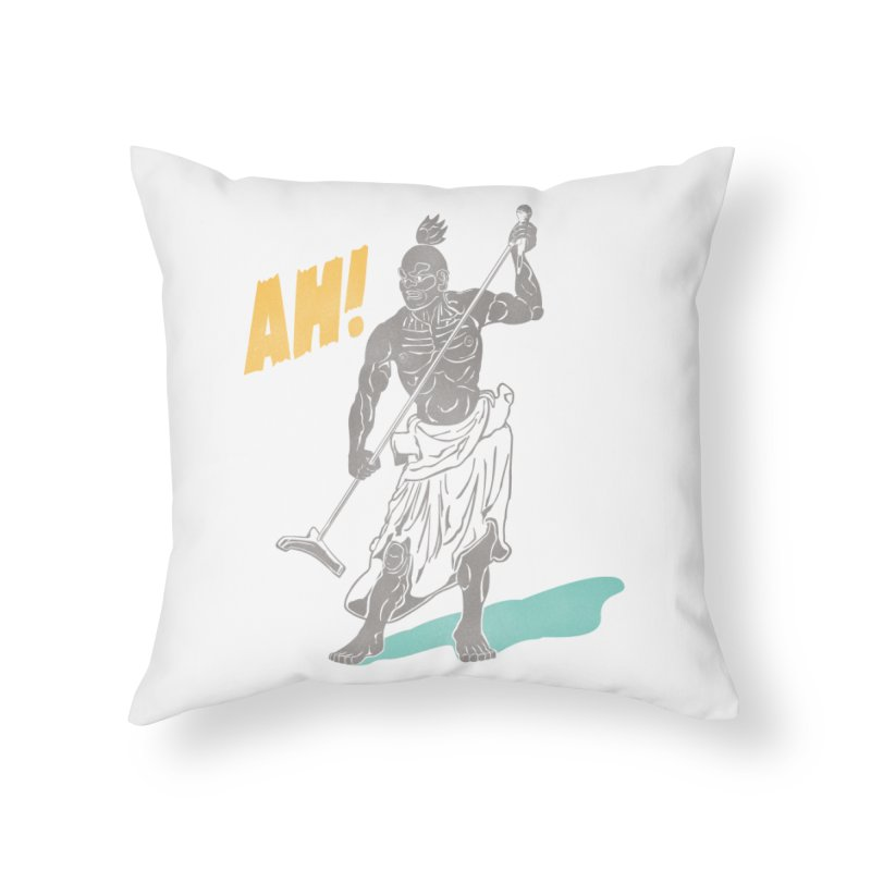 AH! Home Throw Pillow by stickysyrups's Artist Shop