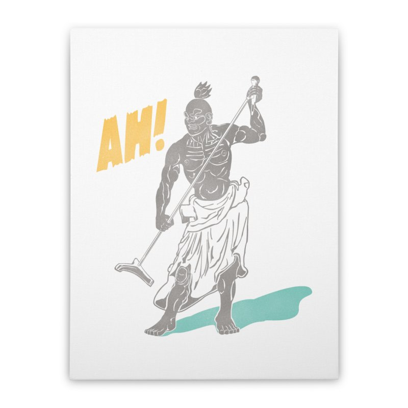 AH! Home Stretched Canvas by stickysyrups's Artist Shop