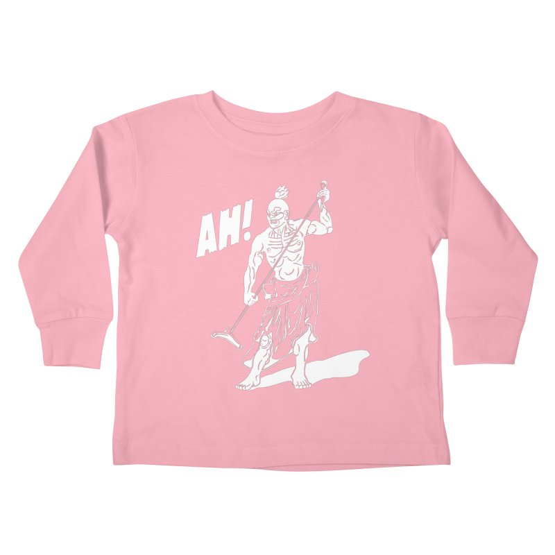 AH! Kids Toddler Longsleeve T-Shirt by stickysyrups's Artist Shop