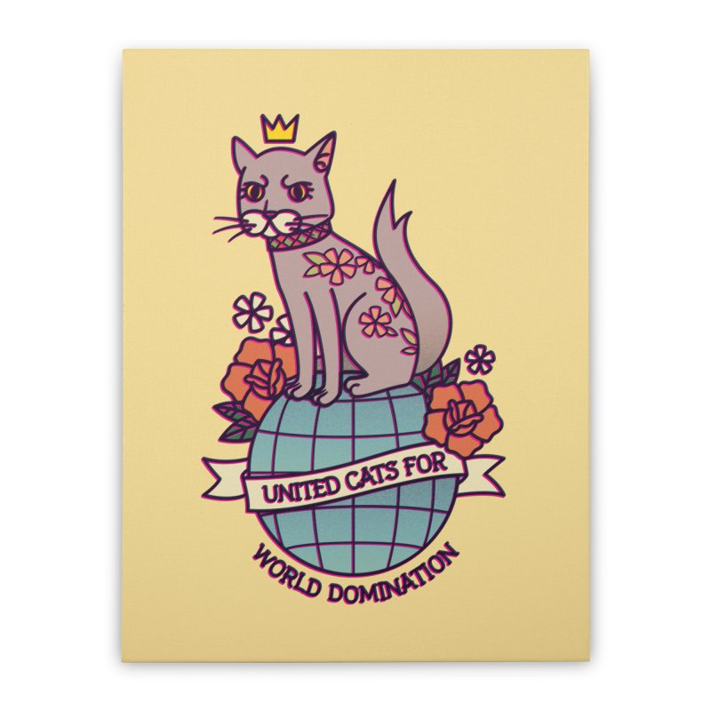United Cats Home Stretched Canvas by stifflines's Artist Shop