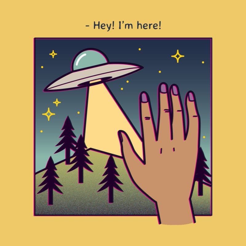 Hey! I'm Here! Accessories Notebook by stifflines's Artist Shop
