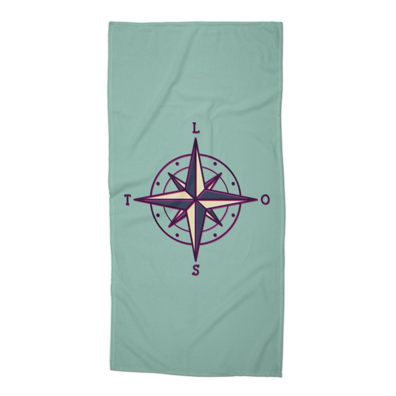 Nowhere Compass Accessories Beach Towel by stifflines's Artist Shop