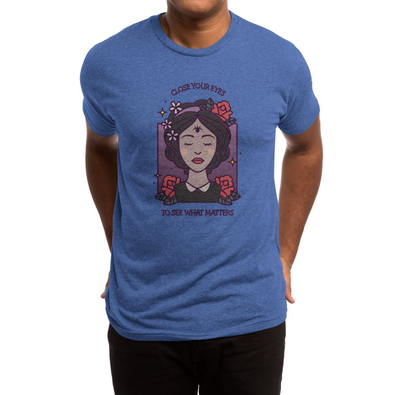 Close Your Eyes to See What Matters Men's T-Shirt by stifflines's Artist Shop