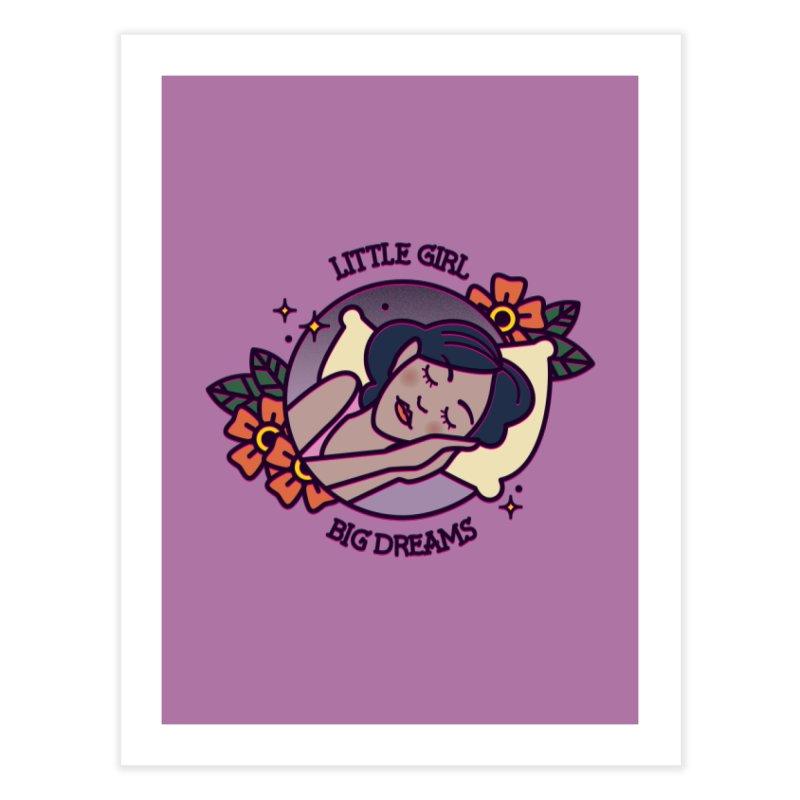 Little Girl Big Dreams Home Fine Art Print by stifflines's Artist Shop