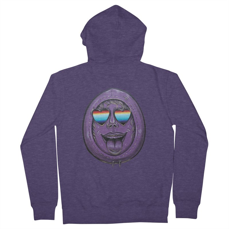 Zombie Mouth Men's French Terry Zip-Up Hoody by Stiky Shop